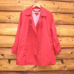 Tommy Hilfiger Red Trench Coat Jacket
